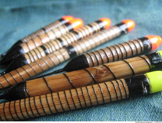 Поплавок своими руками из: дерева, пенопласта, пера, трубки