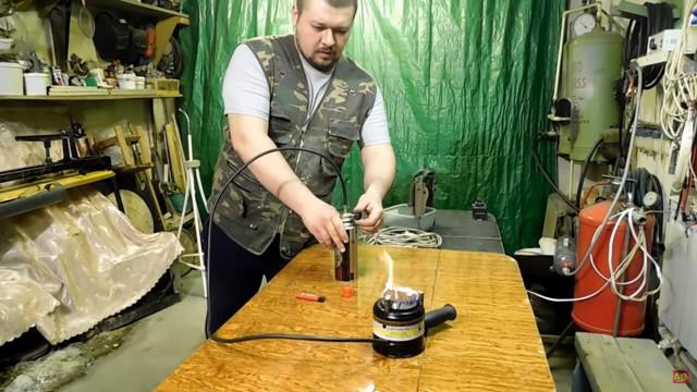 Туристическая бензиновая горелка своими руками, процесс изготовления