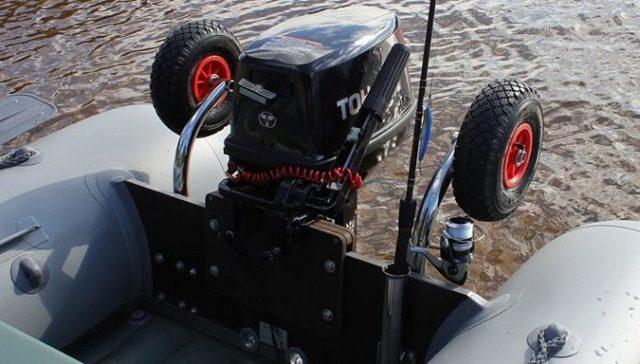 Транцевые колеса для лодки пвх своими руками, чертежи и установка