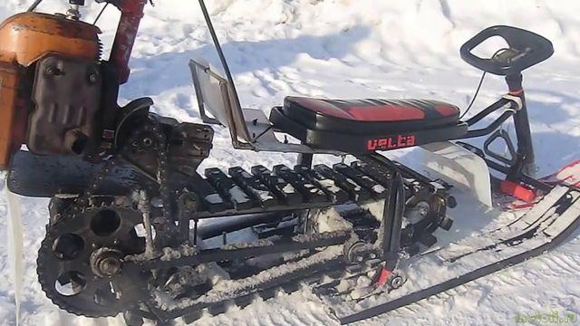 Как сделать снегоход из бензопилы своими руками, схема изготовления