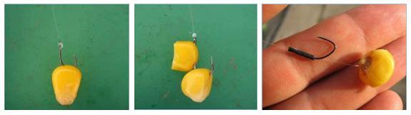Как правильно насаживать кукурузу на крючок, видео урок