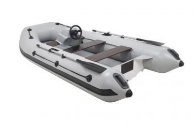 Лодка РИБ ПВХ для рыбалки с алюминиевым и пластиковым дном