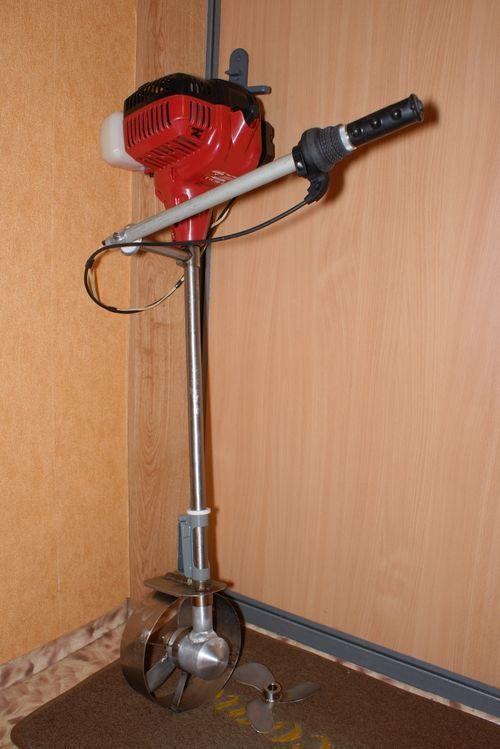 Лодочный мотор своими руками: из триммера и шуруповерта