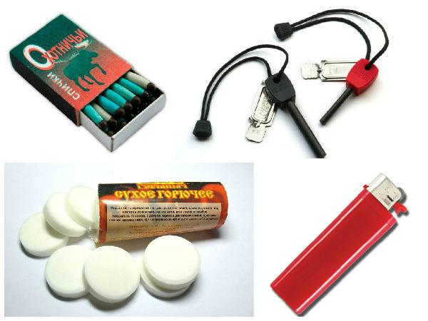 Набор для выживания в экстремальных условиях: предметы первой необходимости