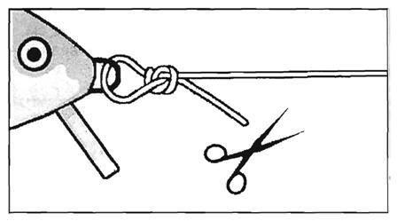 Как привязать блесну к леске